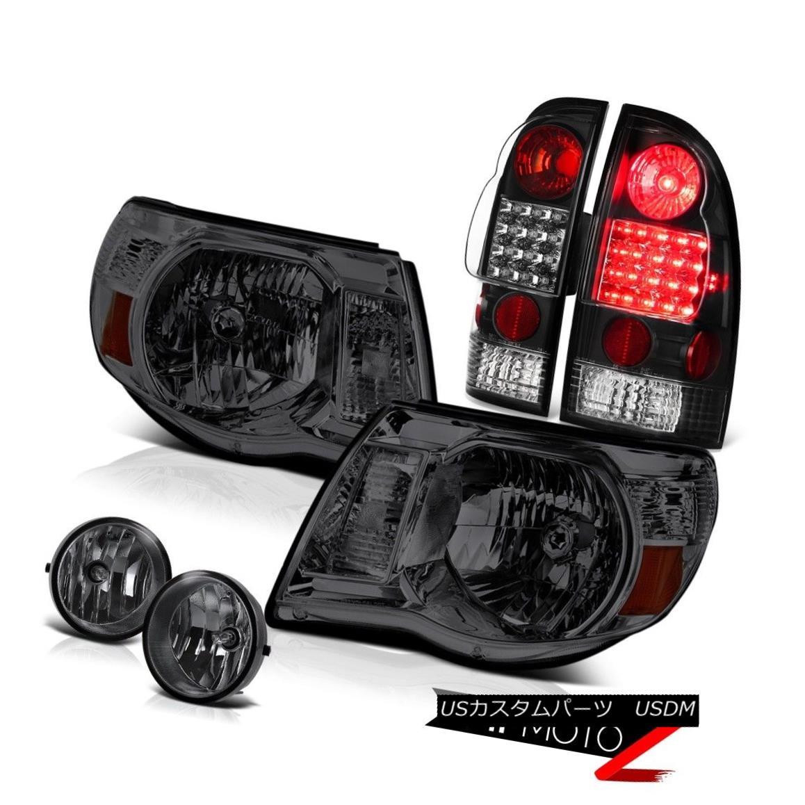 ヘッドライト Dark Smoke Headlights Black LED Brake Lamps Tint Fog 05 06 07 08 09 10 11 Tacoma ダークスモークヘッドライトブラックLEDブレーキランプティントフォグ05 06 07 08 09 10 11タコマ
