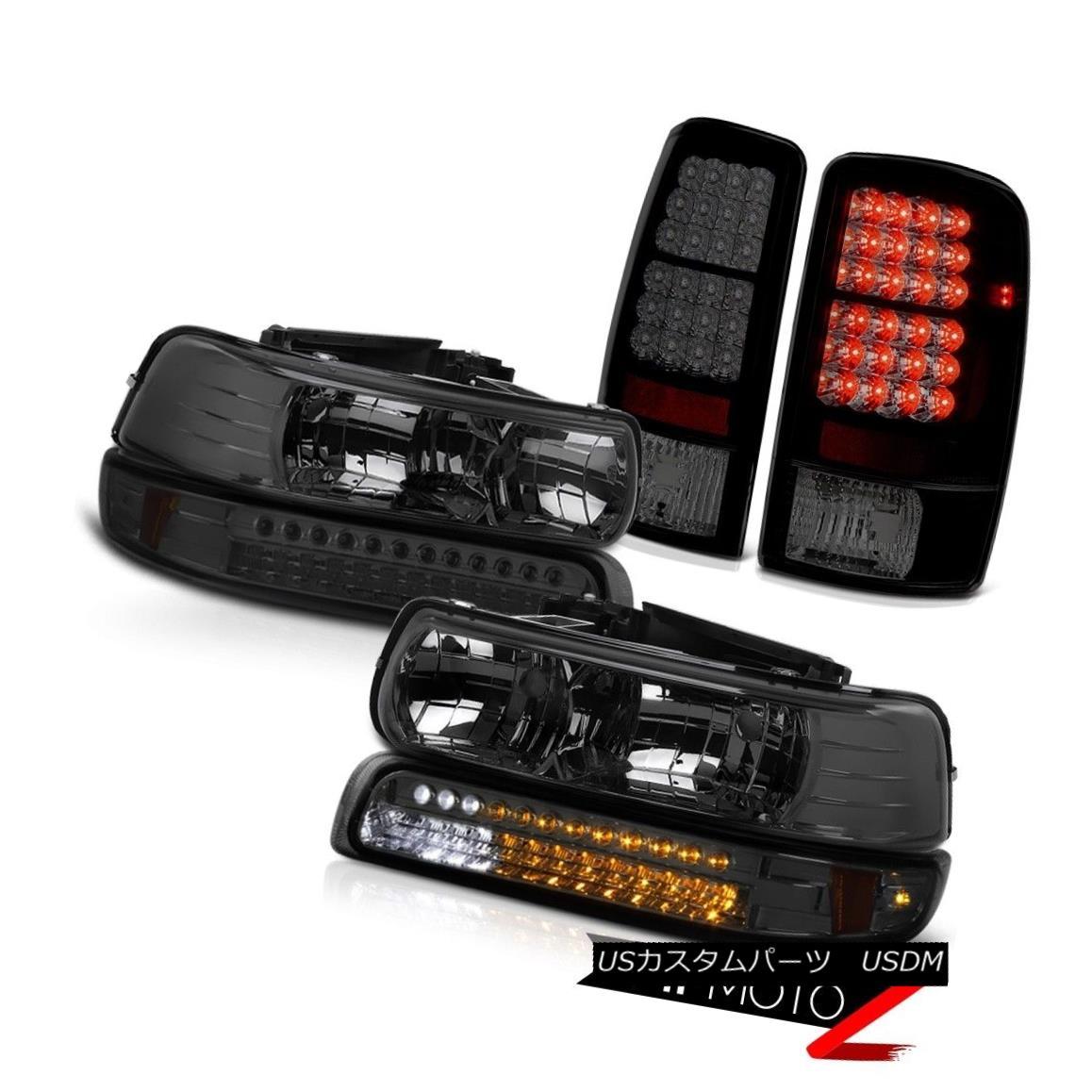 ヘッドライト Headlamp Tinted Bumper LED Tail Lights Lamps 00 01 02 03 04 05 06 Suburban 2500 ヘッドランプ着色バンパーLEDテールライトランプ00 01 02 03 04 05 06郊外2500