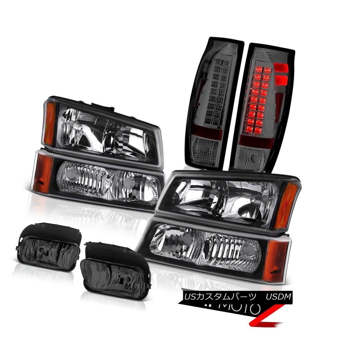 ヘッドライト 03 04 05 06 Avalanche 2500HD Smoked Foglamps Tail Lights Raven Black Headlights 03 04 05 06雪崩2500HDスモークフォグランプテールライトレイブンブラックヘッドライト