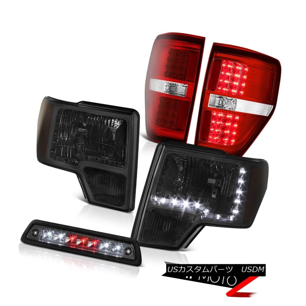 ヘッドライト 09-14 F150 XLT Third brake light taillamps headlamps led drl SMD