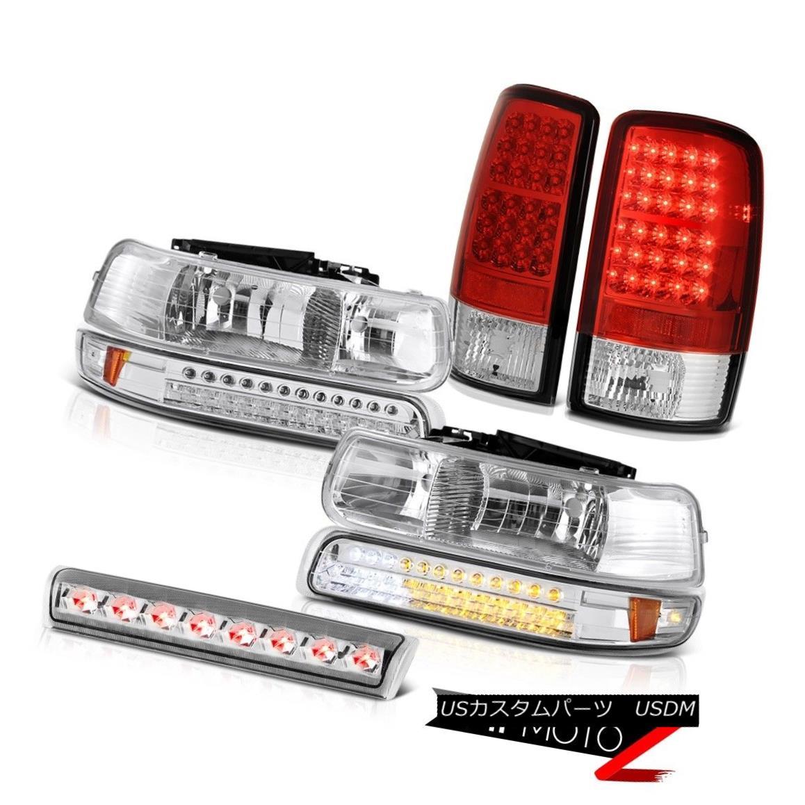 ヘッドライト 2000-2006 Suburban LT Signal DRL Headlights Red LED Tail Lights Roof Stop Clear 2000-2006郊外LT信号DRLヘッドライト赤色LEDテールライトルーフストップクリア
