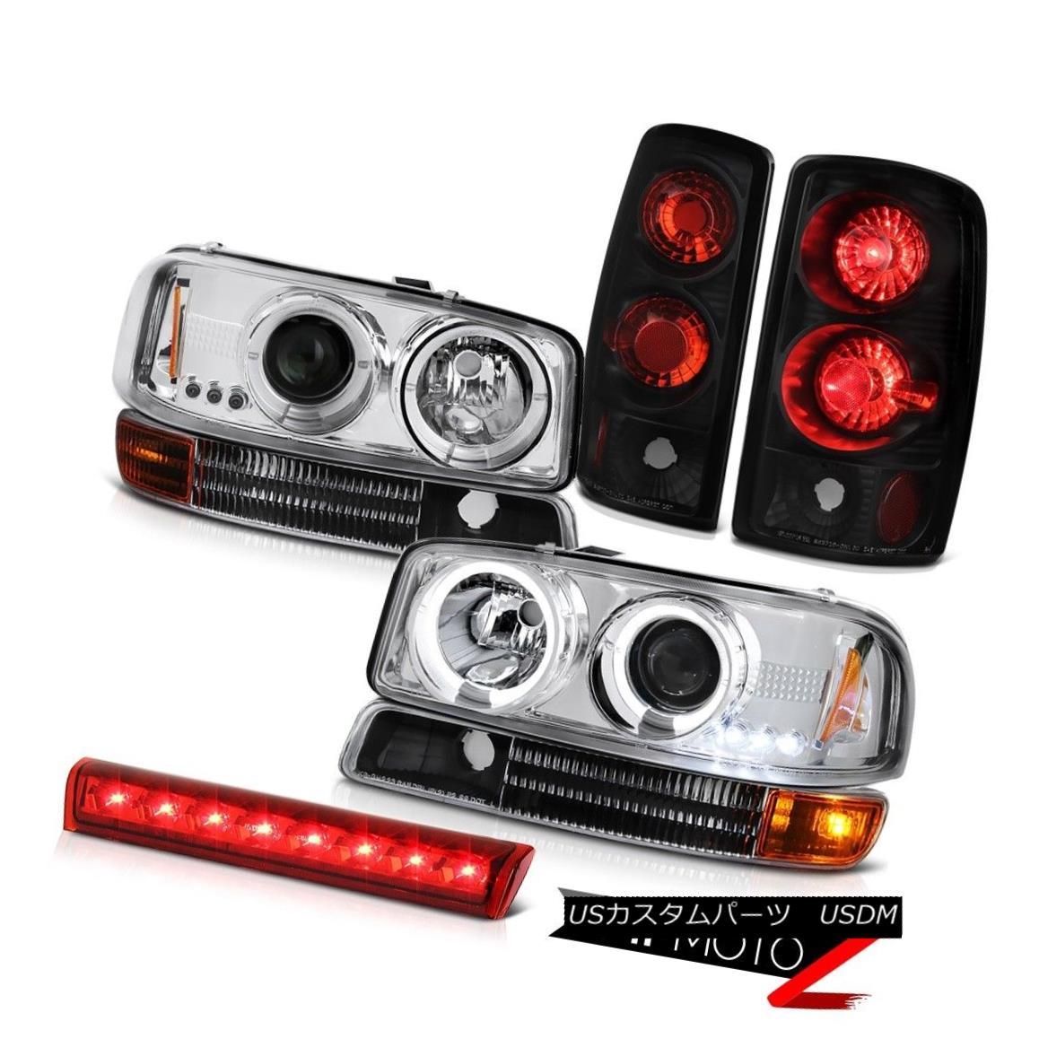 ヘッドライト 2000-2006 Yukon Halo LED Projector Headlights Signal Black Brake Lamp High Cargo 2000-2006 Yukon Halo LEDプロジェクターヘッドライト信号ブラックブレーキランプハイカーゴ