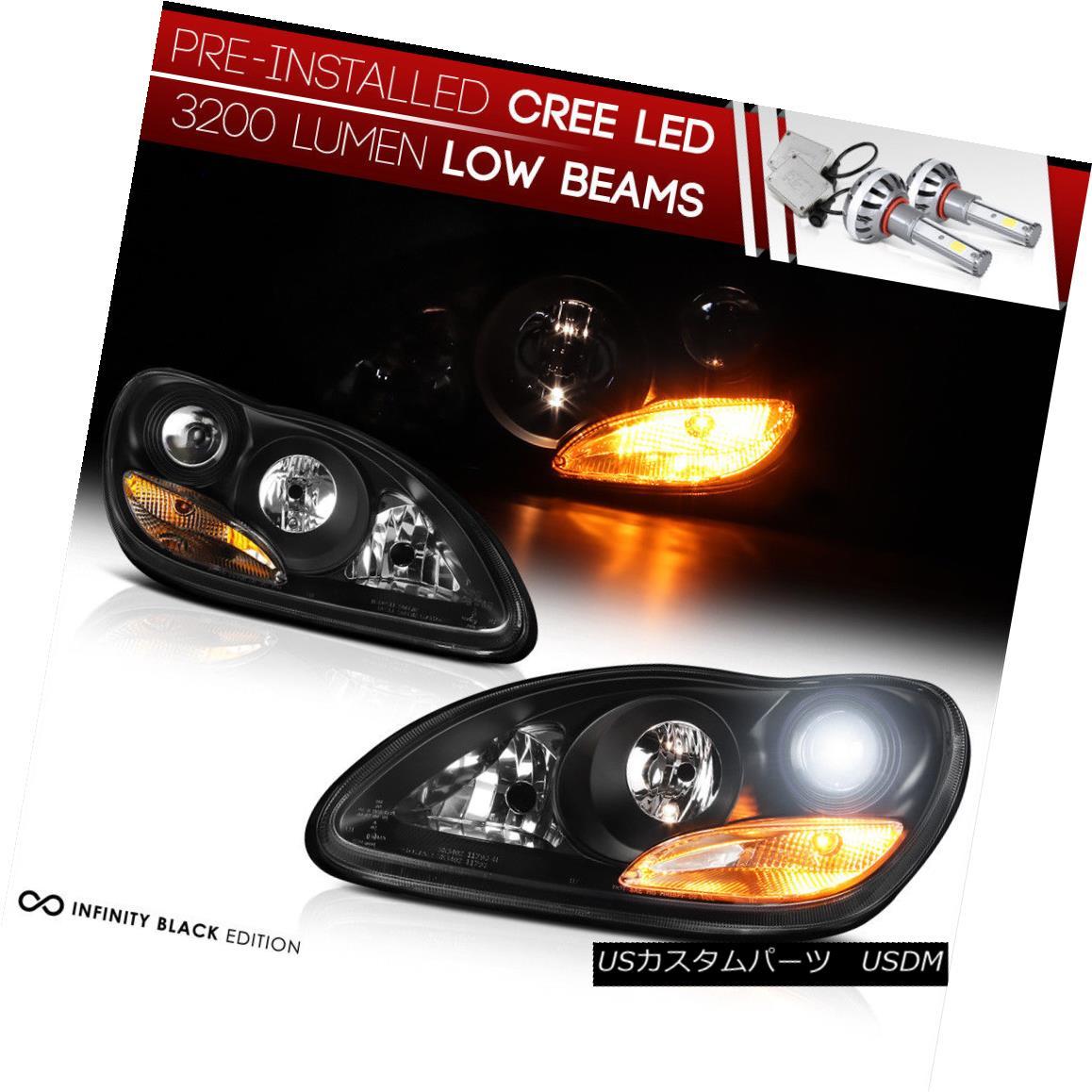 ヘッドライト [LED LOW BEAM] 2000-2005 MB W220 S-Class Black Factory Style Projector Headlight [LEDロービーム] 2000-2005 MB W220 Sクラスブラック工場スタイルプロジェクターヘッドライト
