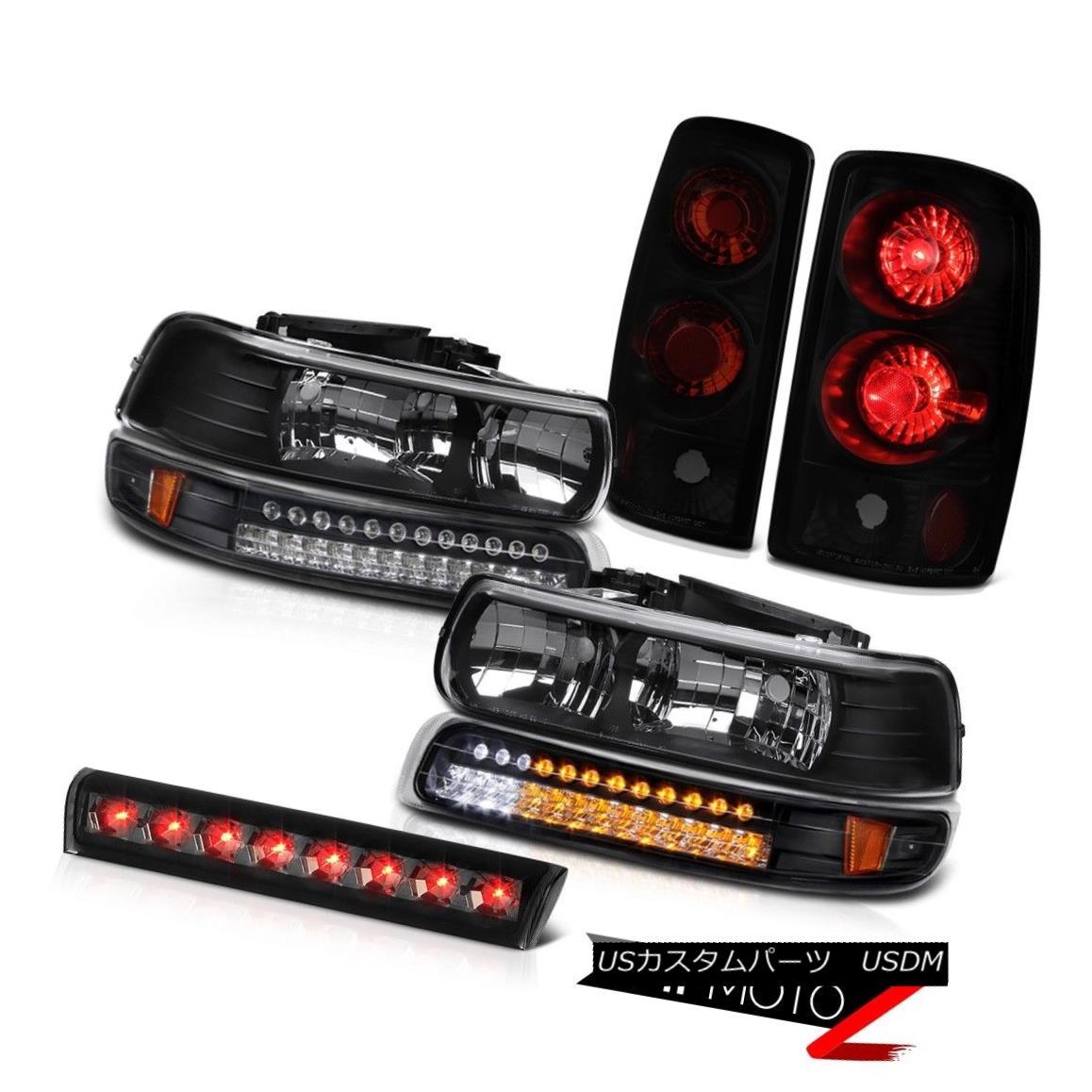 ヘッドライト 00-06 Suburban 5.7L Black Headlamps SMD Darkest Tail Lights High Brake Cargo LED 00-06郊外5.7LブラックヘッドランプSMDダークテールテールライトハイブレーキカーゴLED