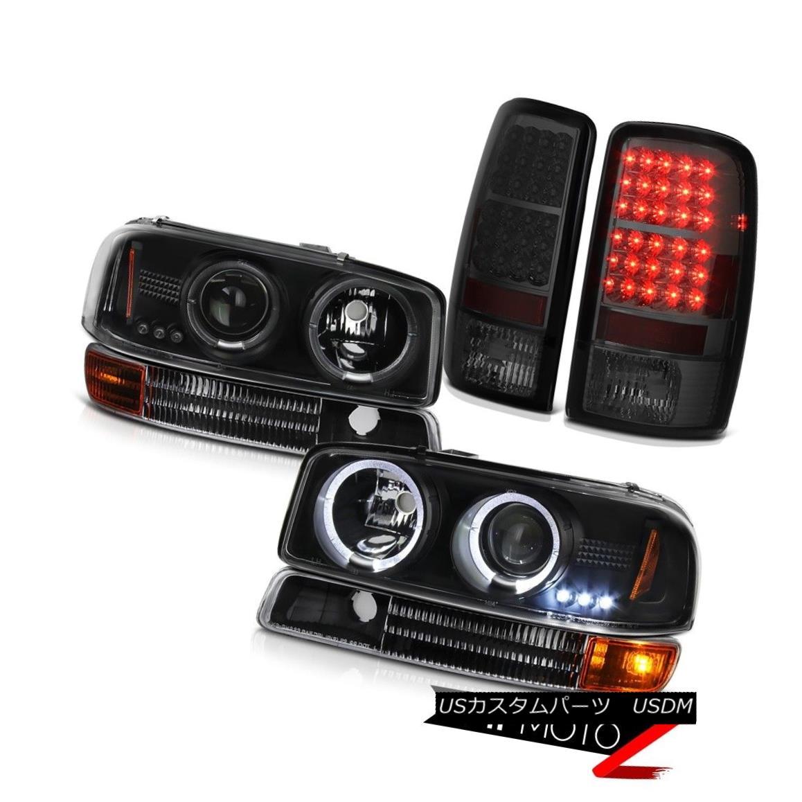 ヘッドライト 01 02 03 04 05 06 Yukon LED DRL Halo Headlight Parking Signal Bumper Tail Lights 01 02 03 04 05 06ユーコンLED DRLハローヘッドライトパーキング信号バンパーテールライト