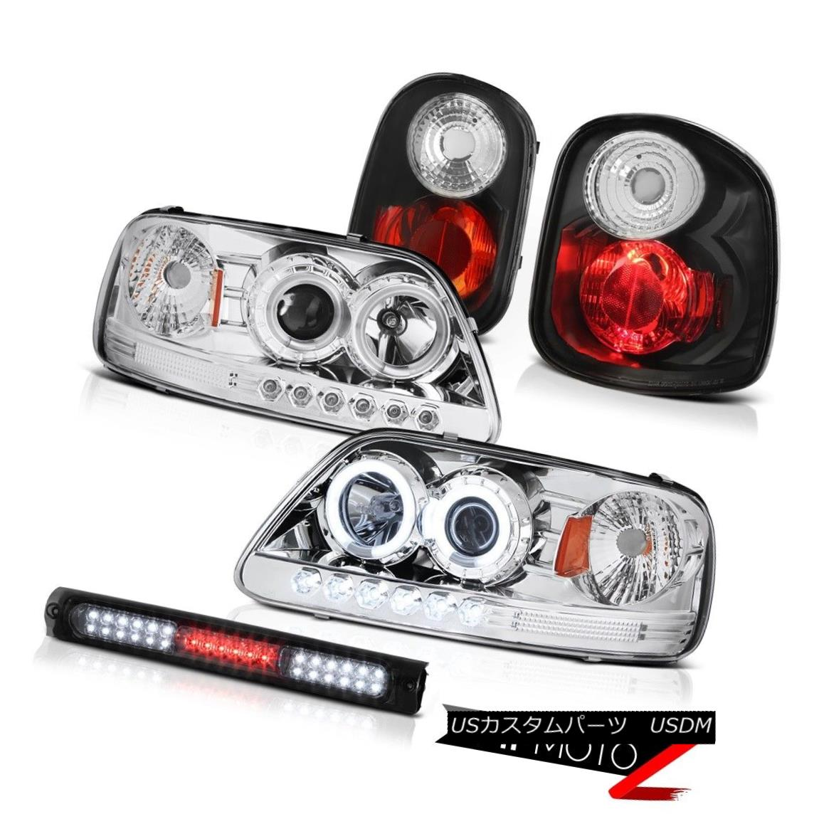 ヘッドライト CCFL Tech Pkg Headlights Rear Black Brake Lamps LED 1997-2000 F150 Flareside SVT CCFL Tech PkgヘッドライトリアブラックブレーキランプLED 1997-2000 F150 Flareside SVT