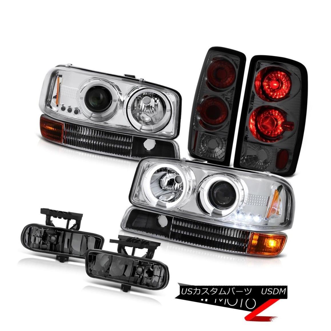 ヘッドライト Projector Clear Headlights Onyx Black Parking Tail Lights FogLights 00-06 Yukon プロジェクタークリアヘッドライトオニキスブラックパーキングテールライトフォグライト00-06ユーコン