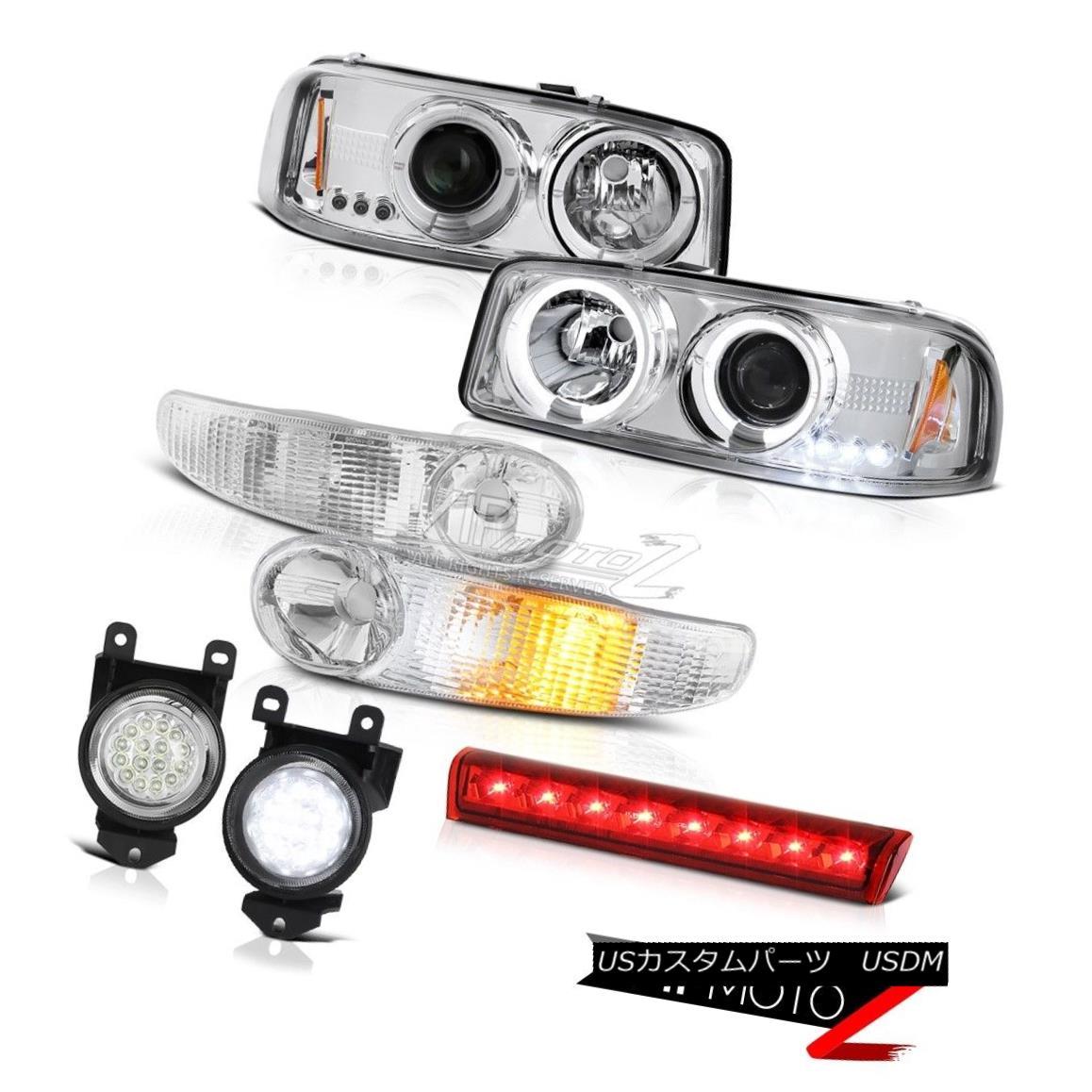 ヘッドライト LED Angel Eye 01-06 GMC Yukon XL Denali Headlights Euro Parking Fog Light Brake LEDエンジェルアイ01-06 GMCユーコンXLデナリヘッドライトユーロパーキングフォグライトブレーキ