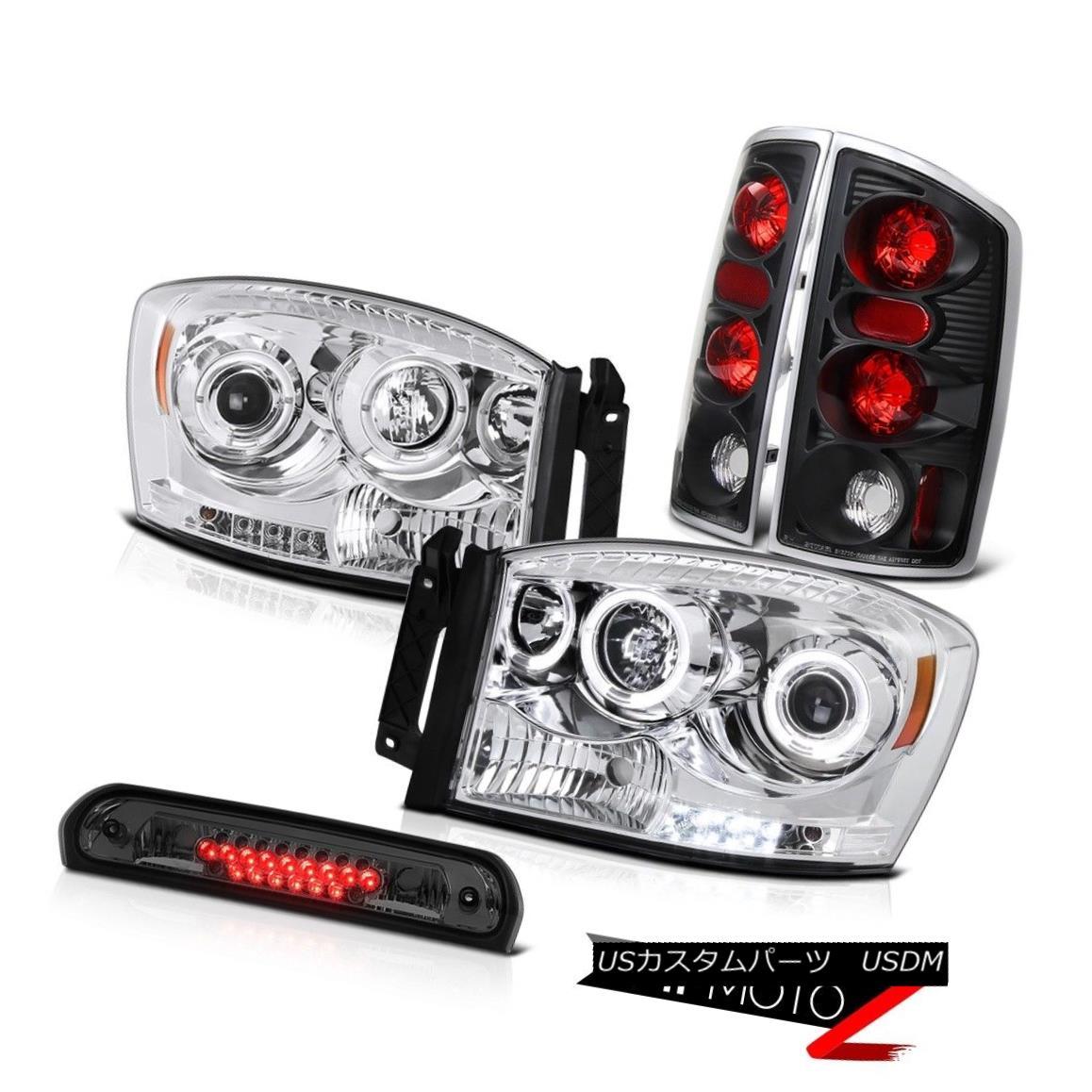 ヘッドライト 2006 Dodge Ram Hemi Halo LED Projector Headlights Signal Tail Lights High Brake 2006 Dodge Ram Hemi Halo LEDプロジェクターヘッドライト信号テールライトハイブレーキ