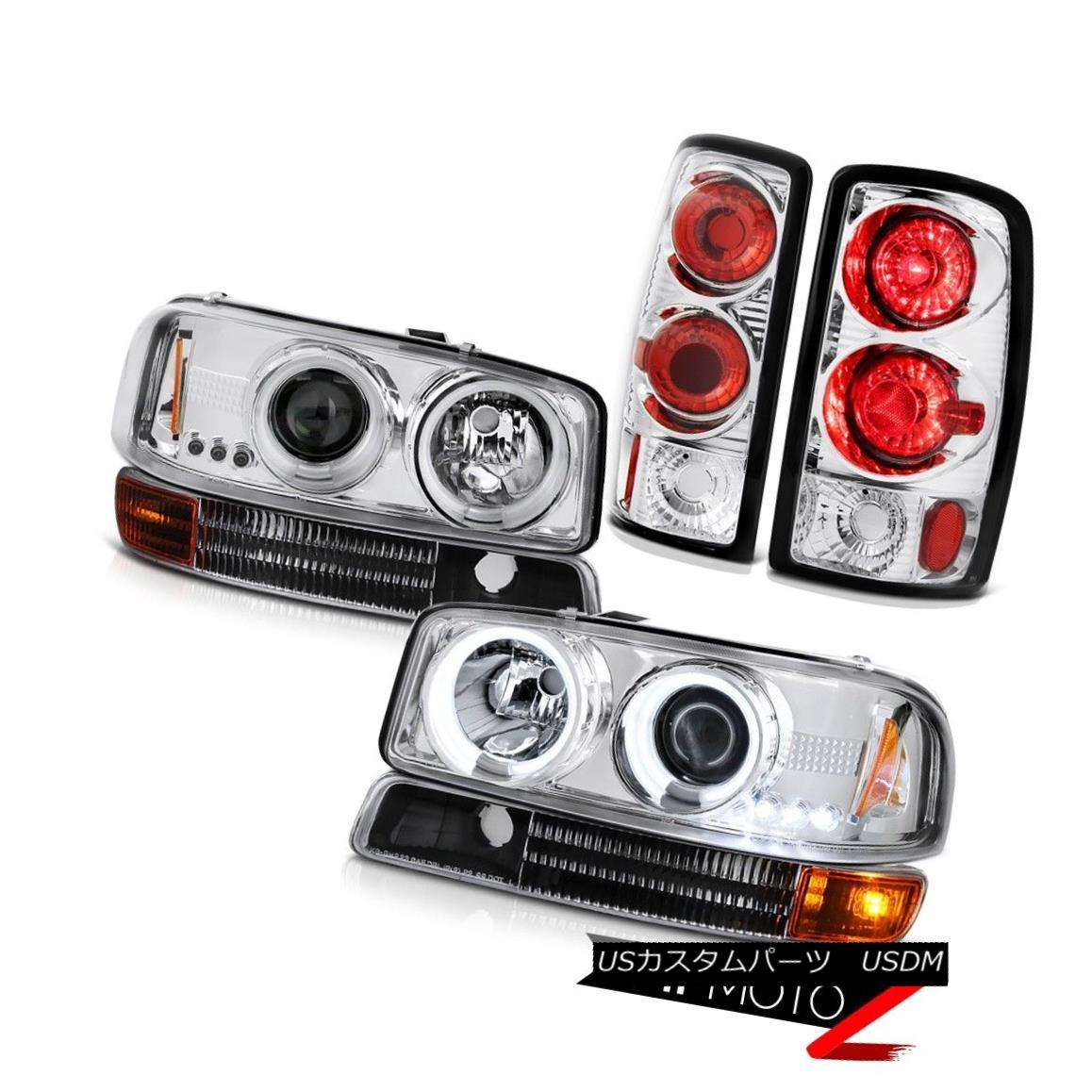 ヘッドライト CCFL Halo Headlights 2000-2006 GMC Yukon Black Bumper Parking Brake Tail Lights CCFL Haloヘッドライト2000-2006 GMC Yukonブラックバンパー駐車ブレーキテールライト