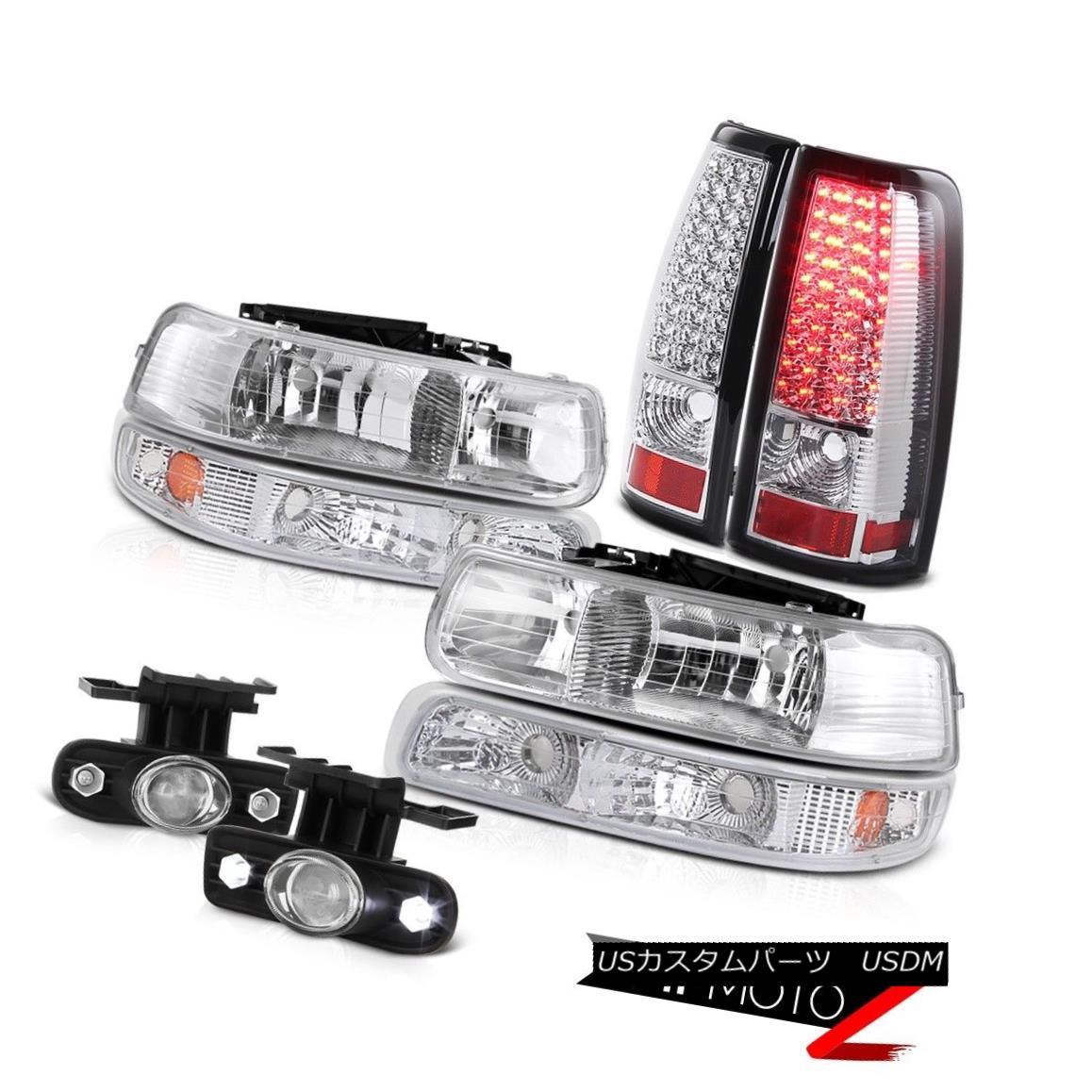 ヘッドライト 99 00 01 02 Silverado V8 5.3L headlamps Black Signal Tail Lamps LED Foglights 99 00 01 02 Silverado V8 5.3Lヘッドライトブラック信号テールランプLEDフォグライト