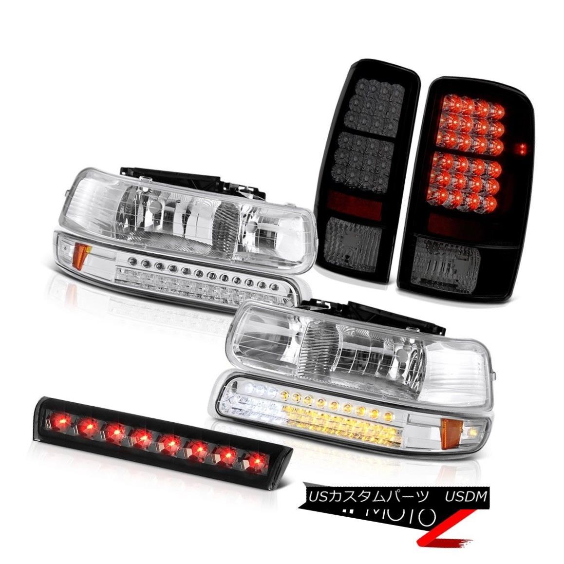 ヘッドライト 00 01 02 03 04 05 06 Tahoe 5.3L Euro LED Chrome Headlights Tail Lights 3rd Brake 00 01 02 03 04 05 06タホー5.3LユーロLEDクロームヘッドライトテールライト3rdブレーキ