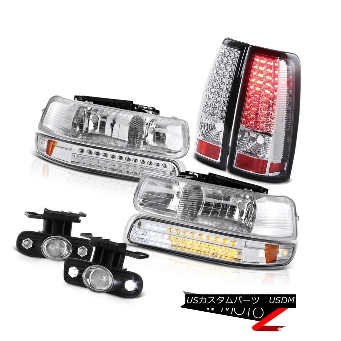ヘッドライト Crystal SMD Parking Headlights LED Taillamps Bumper Fog 99-02 Silverado 6.0L V8 クリスタルSMDパーキングヘッドライトLEDタイルランプバンパーフォグ99-02 Silverado 6.0L V8