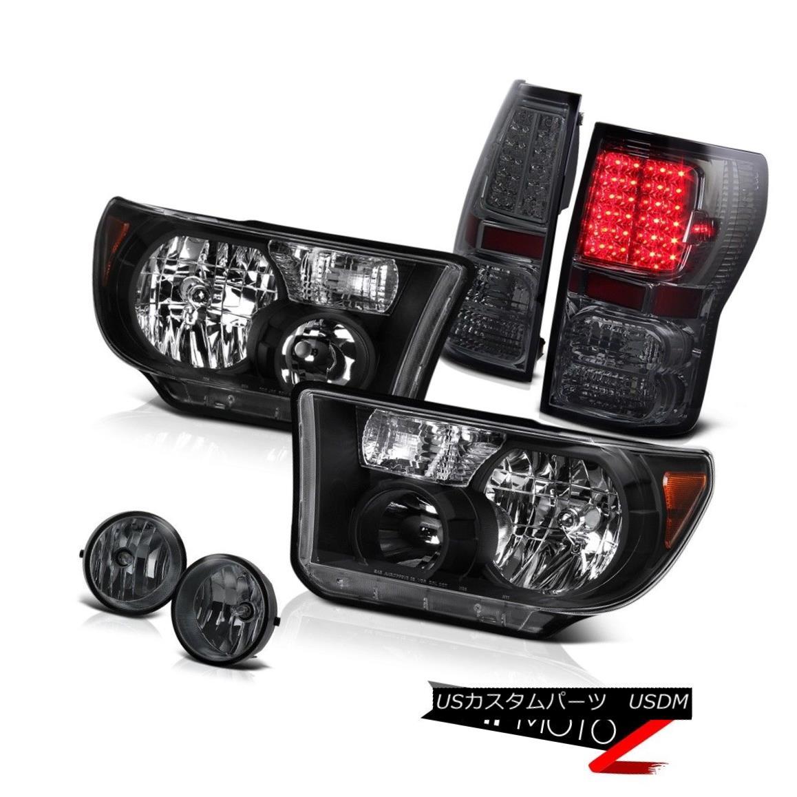 ヘッドライト Black Diamond L+R Headlight+Led Tail Light+Fog Lamp Tundra 07-13 TRD ブラックダイヤモンドL + Rヘッドライト+ Ledテールライト+ FogランプTundra 07-13 TRD