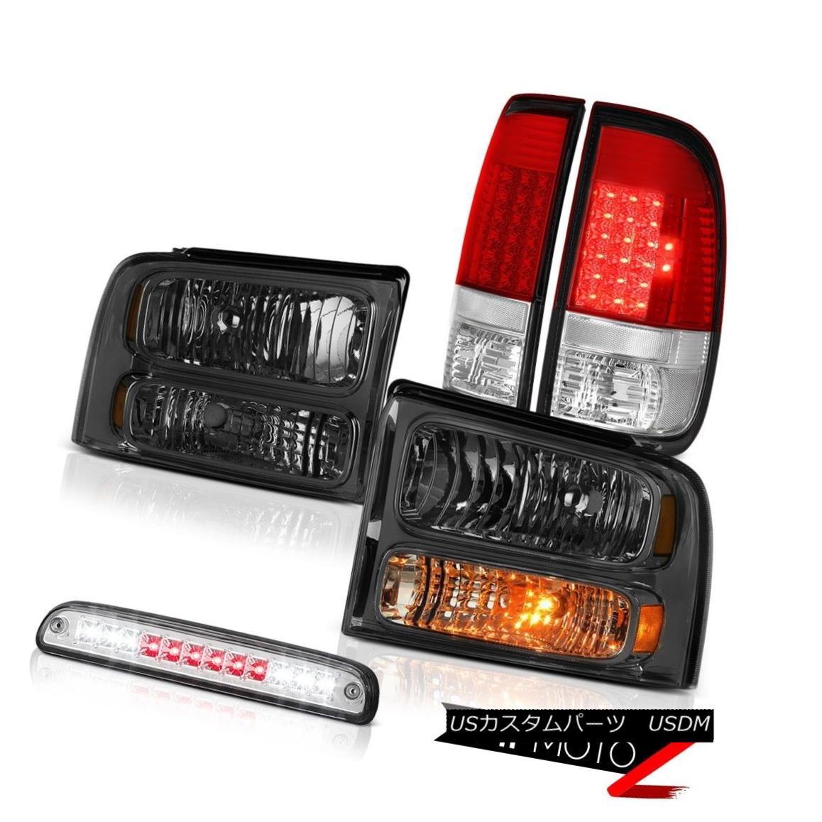 ヘッドライト 05-07 F350 King Ranch PAIR Smoke Headlights Brake Lamps Taillights Roof Stop LED 05-07 F350 King Ranch PAIRスモークヘッドライトブレーキランプテールライトルーフストップLED