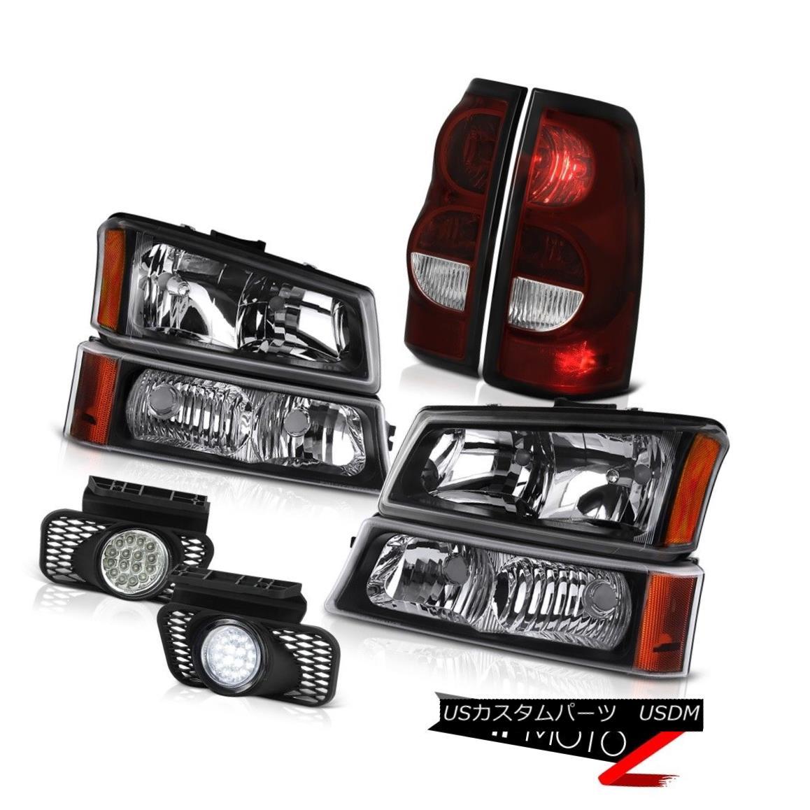 ヘッドライト 03-06 Chevy Silverado Foglamps Tail Lights Infinity Black Signal Lamp Headlights 03-06 Chevy Silveradoフォグランプテールライトインフィニティブラックシグナルランプヘッドライト