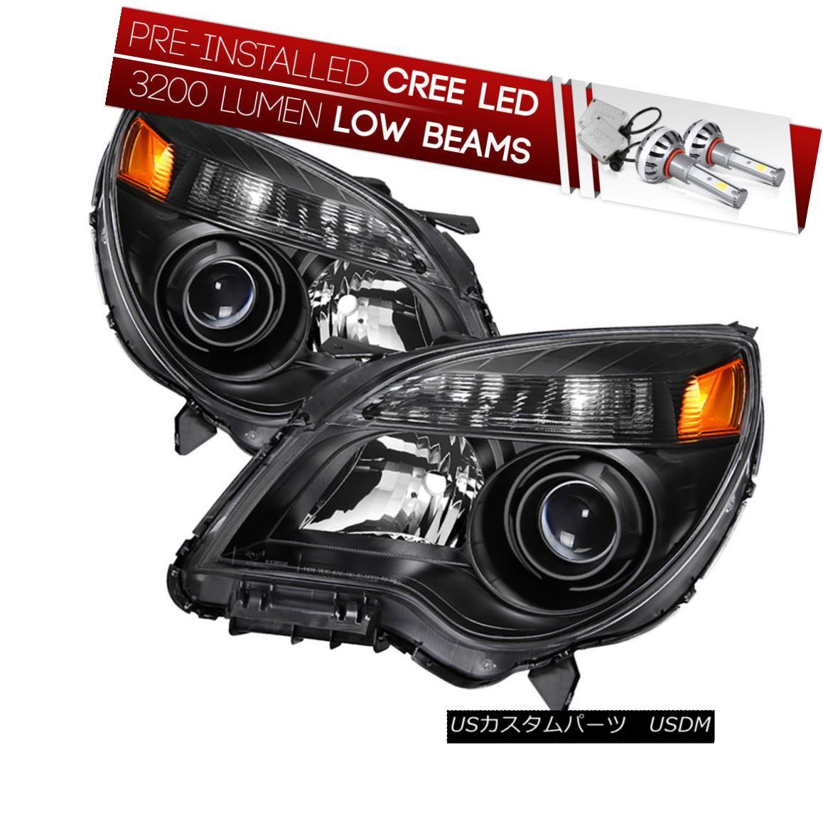 ヘッドライト [CREE LED Bulb Installed] 10-15 Chevy Equinox Black Projector Headlight Assembly [CREE LED Bulbをインストール] 10-15 Chevy Equinox Blackプロジェクターヘッドライトアセンブリ