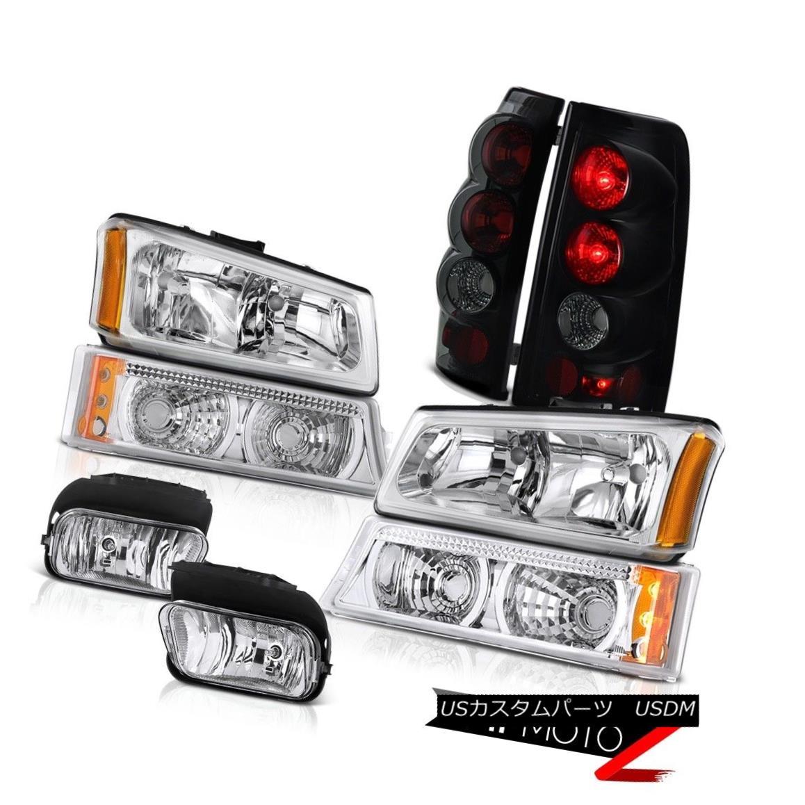 ヘッドライト 2003-2006 Silverado 5.3L Clear Headlights Turn Signal Lamp Rear Tail Lights Fog 2003-2006 Silverado 5.3Lクリアヘッドライトターンシグナルランプリアテールライトフォグ