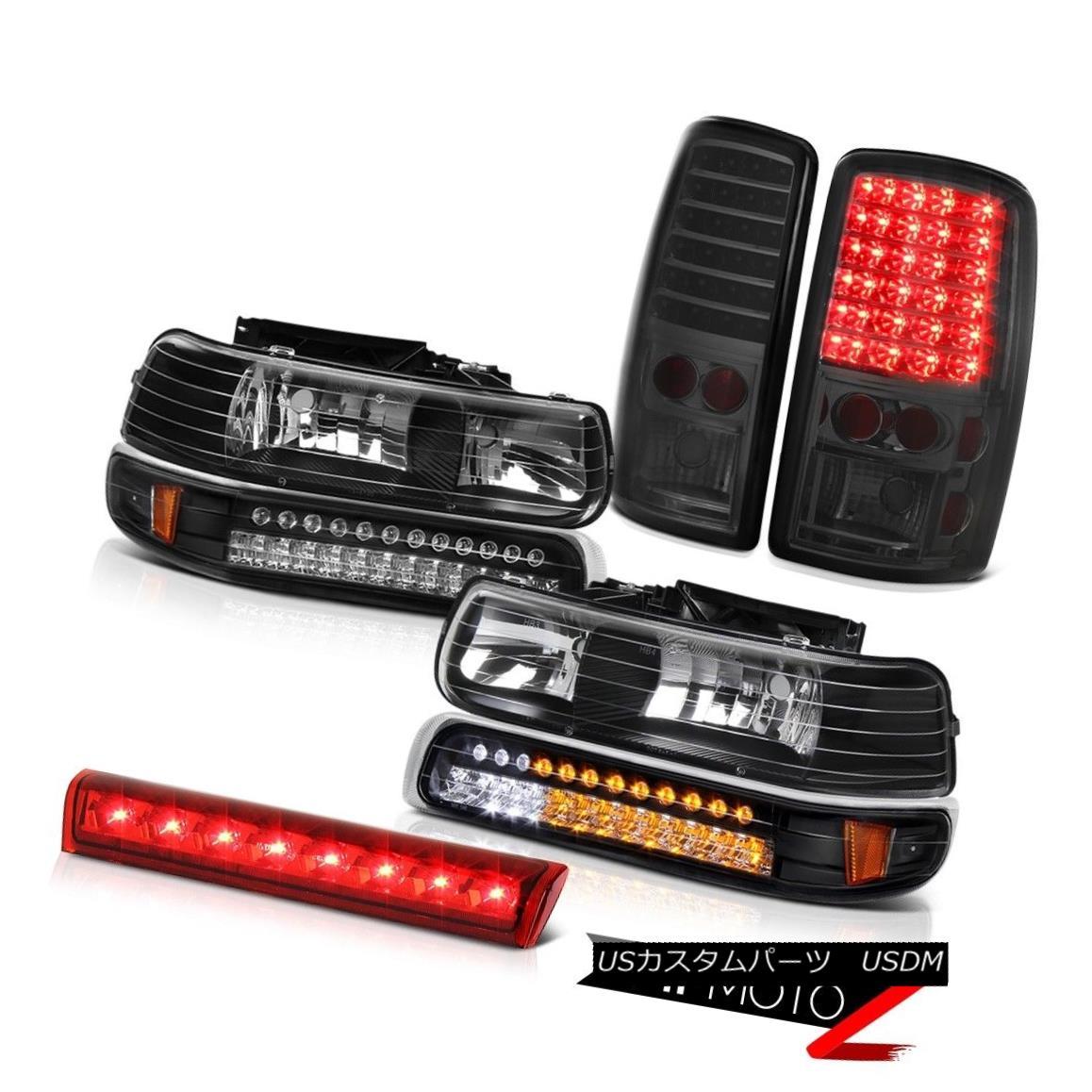 ヘッドライト 2000-2006 Chevy Tahoe Headlights LED Bumper Dark Brake Tail Lights High Stop Red 2000-2006シボレータホヘッドライトLEDバンパーダークブレーキテールライトハイストップレッド