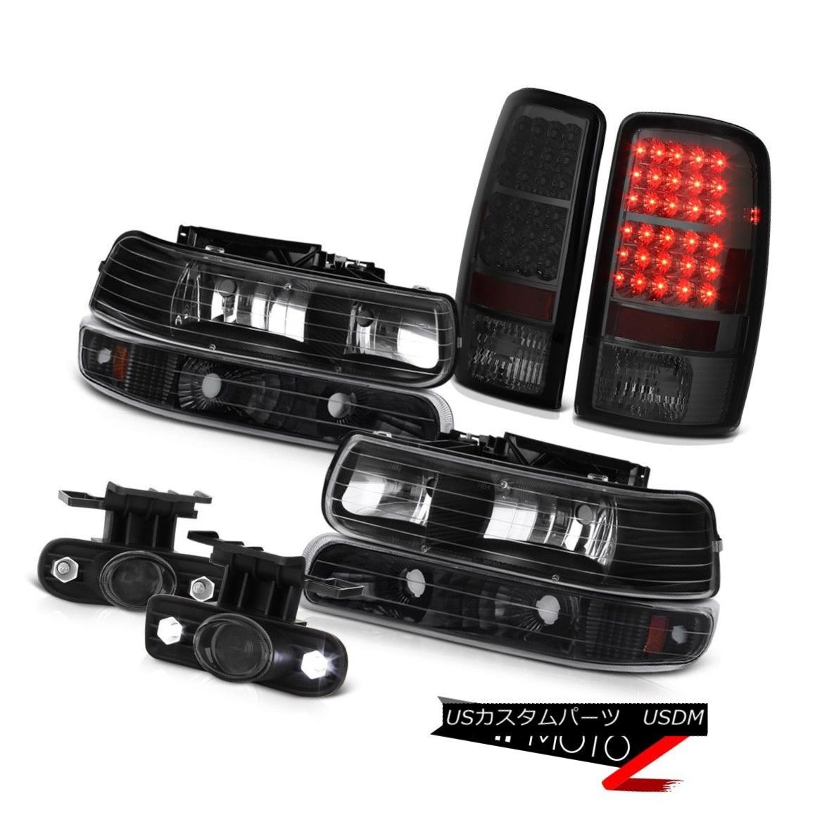 ヘッドライト 00-06 Tahoe 5.3L Black Headlights Headlamp LED Tail Lights Projector Fog Lamps 00-06 Tahoe 5.3LブラックヘッドライトヘッドランプLEDテールライトプロジェクターフォグランプ