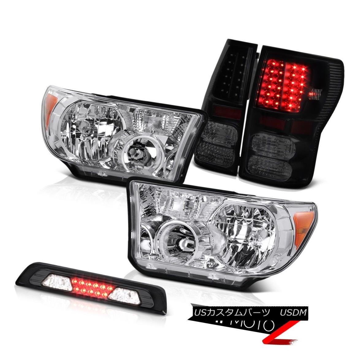 ヘッドライト 07-13 Toyota Tundra SR5 Chrome Headlamps High Stop Light Taillights OE Style SMD 07-13トヨタトンドラSR5クロームヘッドランプハイストップライトテールライトOEスタイルSMD