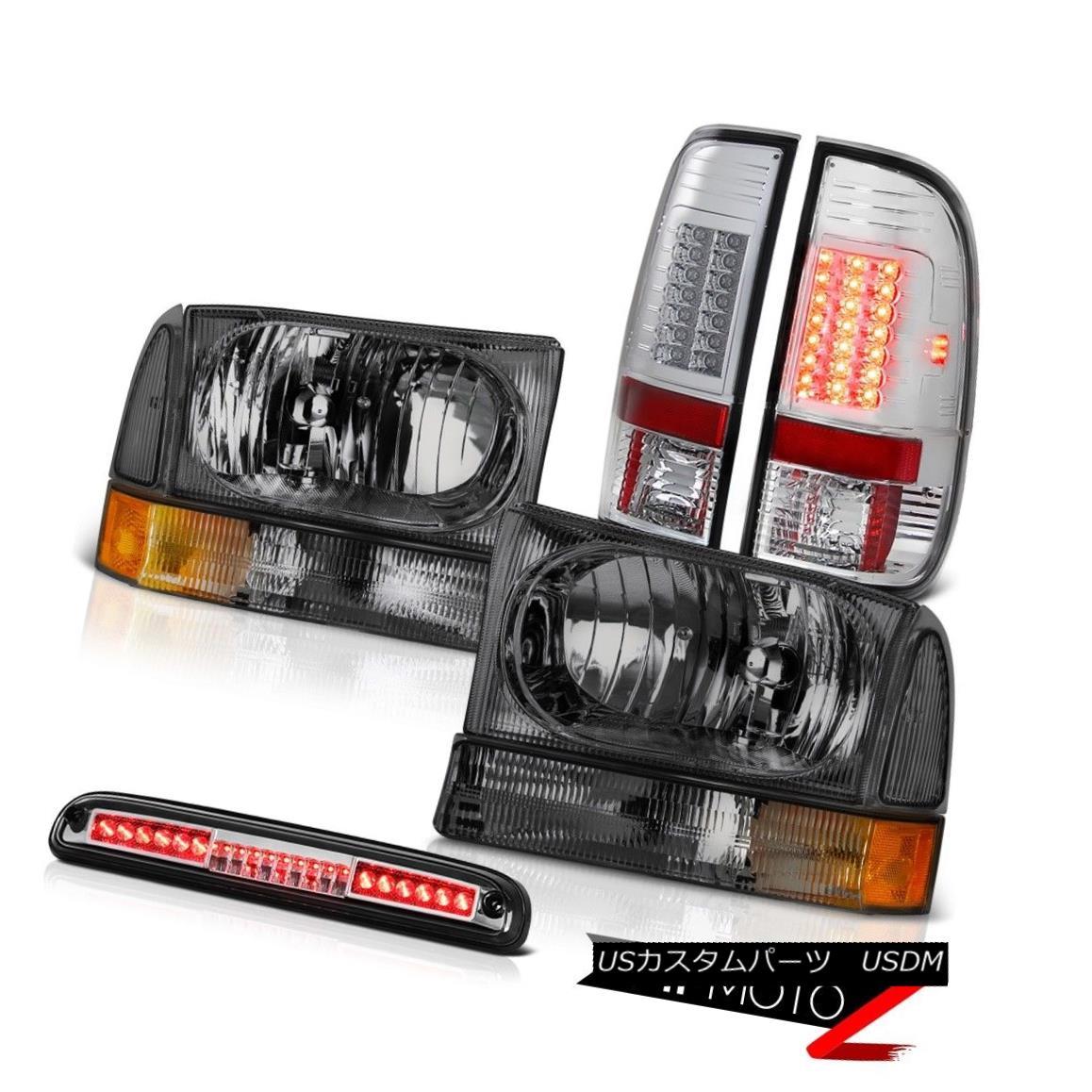 ヘッドライト Tinted Headlight L+R Euro LED Tail Light Third Brake 99 00 01 02 03 04 Ford F350 着色ヘッドライトL + RユーロLEDテールライト第3ブレーキ99 00 01 02 03 04 Ford F350