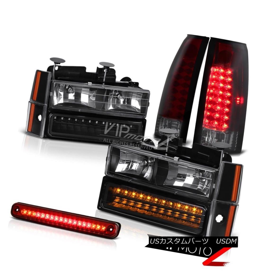 ヘッドライト 11PC Combo Black Headlight+LED Bumper+Corner Lamp+LED Tail Light+3RD Brake Cab 11PCコンボブラックヘッドライト+ LEDバンパー+コーナーランプ+ LEDテールライト+ 3RDブレーキキャブ