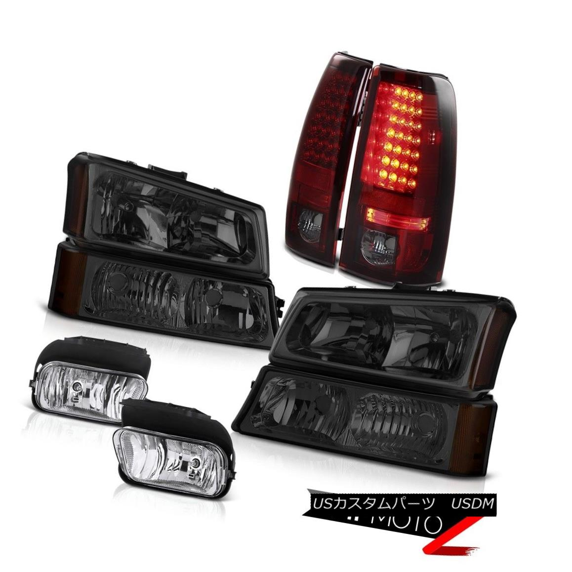 ヘッドライト 2003-2006 Silverado LT Smoke Headlight LEFT RIGHT Red LED Tail Light Driving Fog 2003-2006 Silverado LT煙ヘッドライトLEFT RIGHT赤色LEDテールライトドライビングフォグ