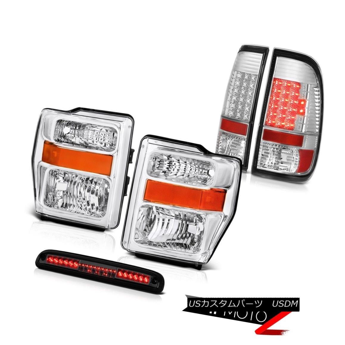 ヘッドライト 2008 2009 2010 F350 XL Crystal Headlights BRIGHTEST LED Tail Lights High Stop 2008年2009年2010年F350 XLクリスタルヘッドライトBRIGHTEST LEDテールライトハイストップ