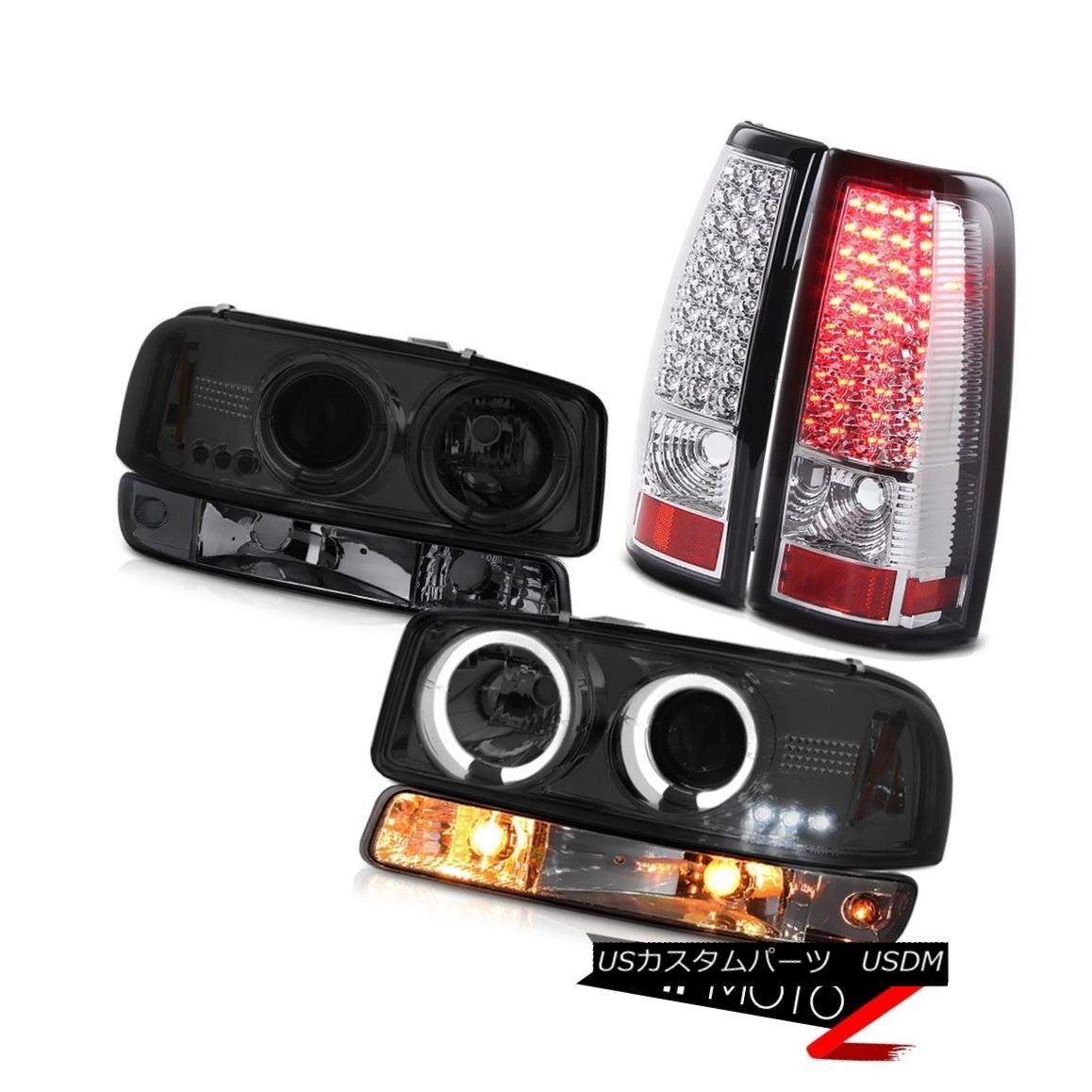 ヘッドライト 99-02 Sierra 3500HD SMD tail brake lamps smokey signal lamp projector headlights 99-02シエラ3500HD SMDテールブレーキランプスモーシグナルランププロジェクターヘッドライト