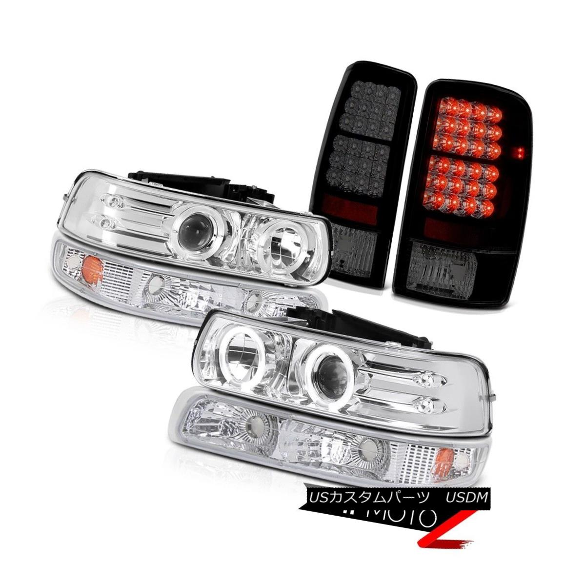ヘッドライト Halo LED Headlamps Euro Bumper Philip SuperFlux Taillights 00-06 Chevy Tahoe Halo LEDヘッドランプユーロバンパーフィリップSuperFluxテールライト00-06 Chevy Tahoe