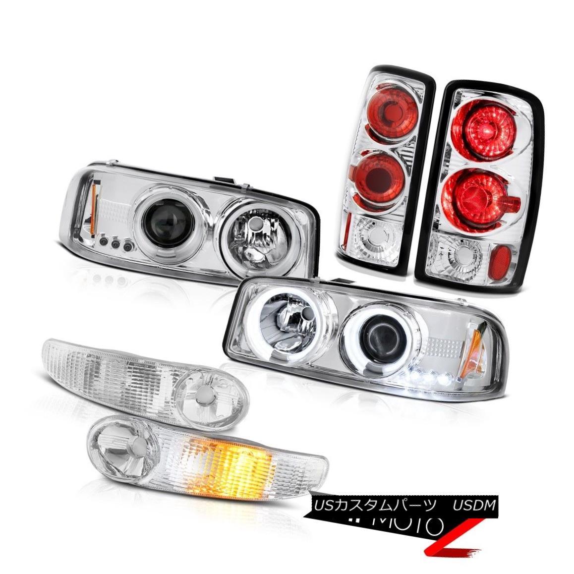 ヘッドライト CCFL Halo Headlight Signal Parking Tail Lights 00 01 02 03 04 05 06 Yukon Denali CCFL Haloヘッドライト信号パーキングテールライト00 01 02 03 04 05 06ユーコンデナリ