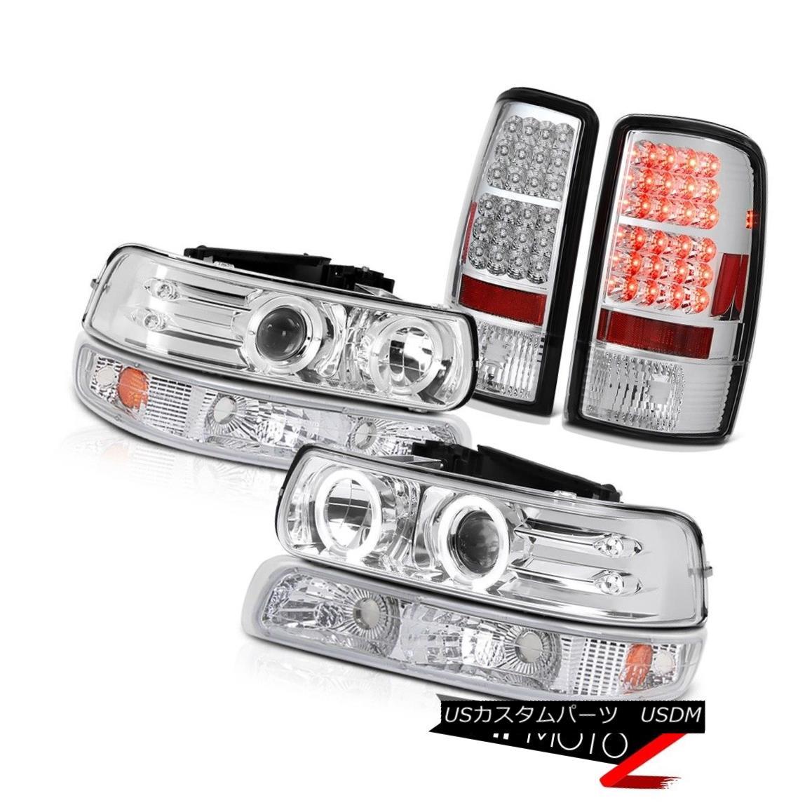 ヘッドライト LED DRL Headlamps Chrome Parking LED Bulb Brake Tail Lights 00-06 Suburban 2500 LED DRLヘッドランプクロームパーキングLED電球ブレーキテールライト00-06郊外2500