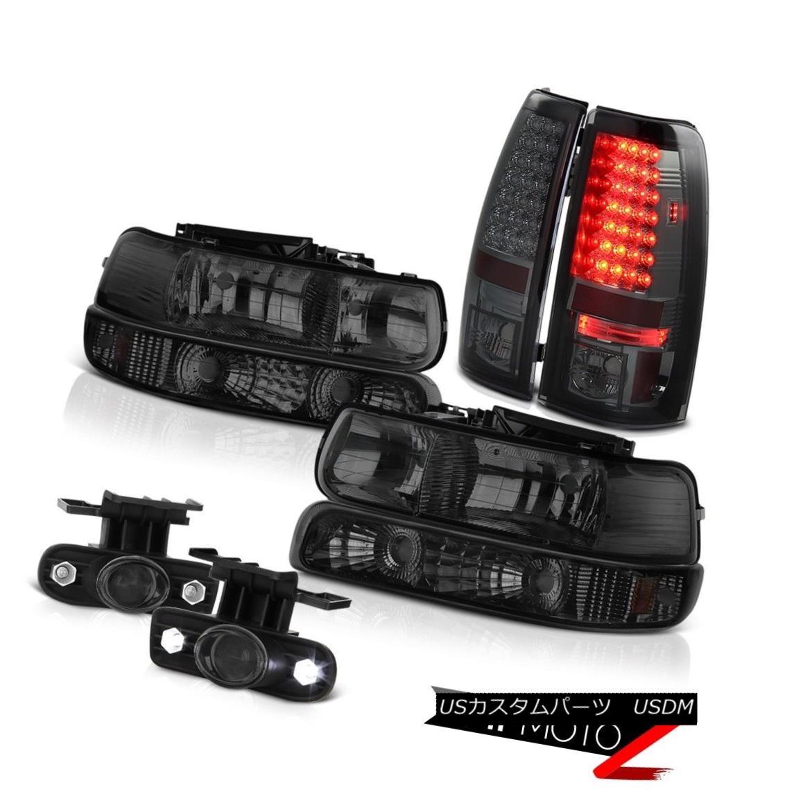 ヘッドライト 99 00 01 02 Chevrolet Silverado 1500 Smoke Bumper Headlamps Tail Lamps Foglamps 99 00 01 02シボレーシルバラード1500スモークバンパーヘッドランプテールランプフォグランプ