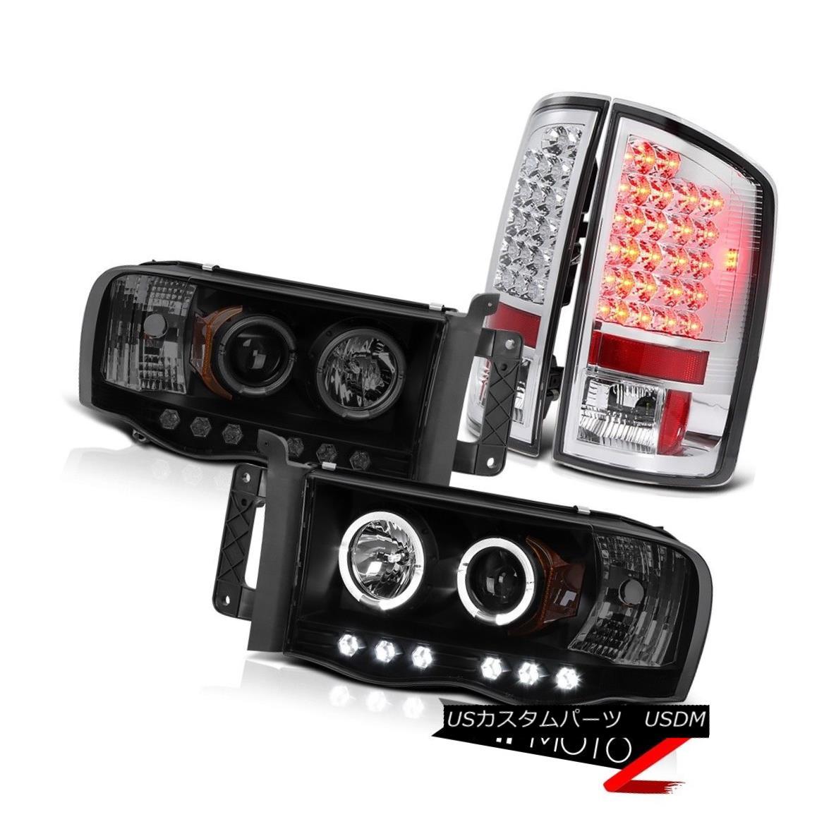 ヘッドライト 02 03 04 05 Ram PowerTech WS Sinister Black LIMITED Halo Headlight Tail Lights 02 03 04 05 Ram PowerTech WS Sinister BlackリミテッドHaloヘッドライトテールライト