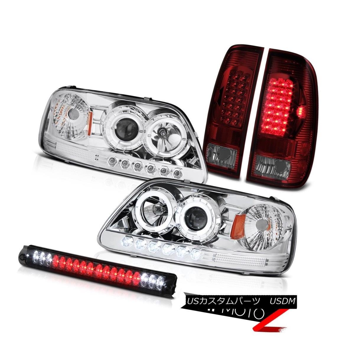 ヘッドライト LED DRL Halo Headlight 2001 02 2003 Ford F150 Red LED Tail Light Brake Lamp Tint LED DRL Haloヘッドライト2001 02 2003 Ford F150レッドLEDテールライトブレーキランプティント