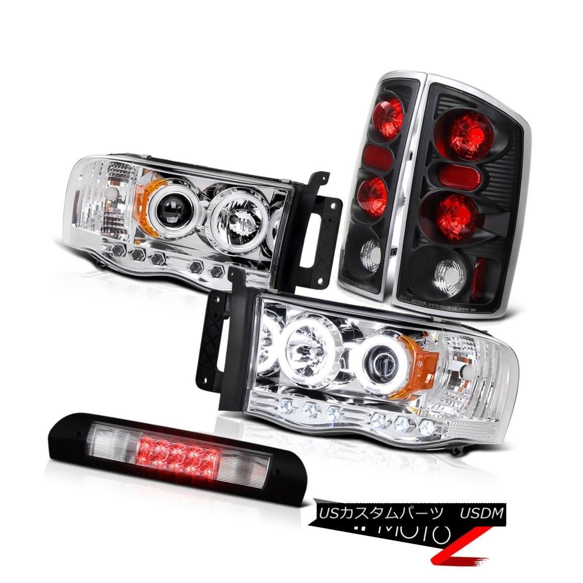 ヘッドライト CCFL Angel Eye Headlights Black Reverse Tail Lights 3rd LED 2002-2005 Ram Hemi CCFLエンジェルアイヘッドライトブラックリバーステールライト3rd LED 2002-2005 Ram Hemi