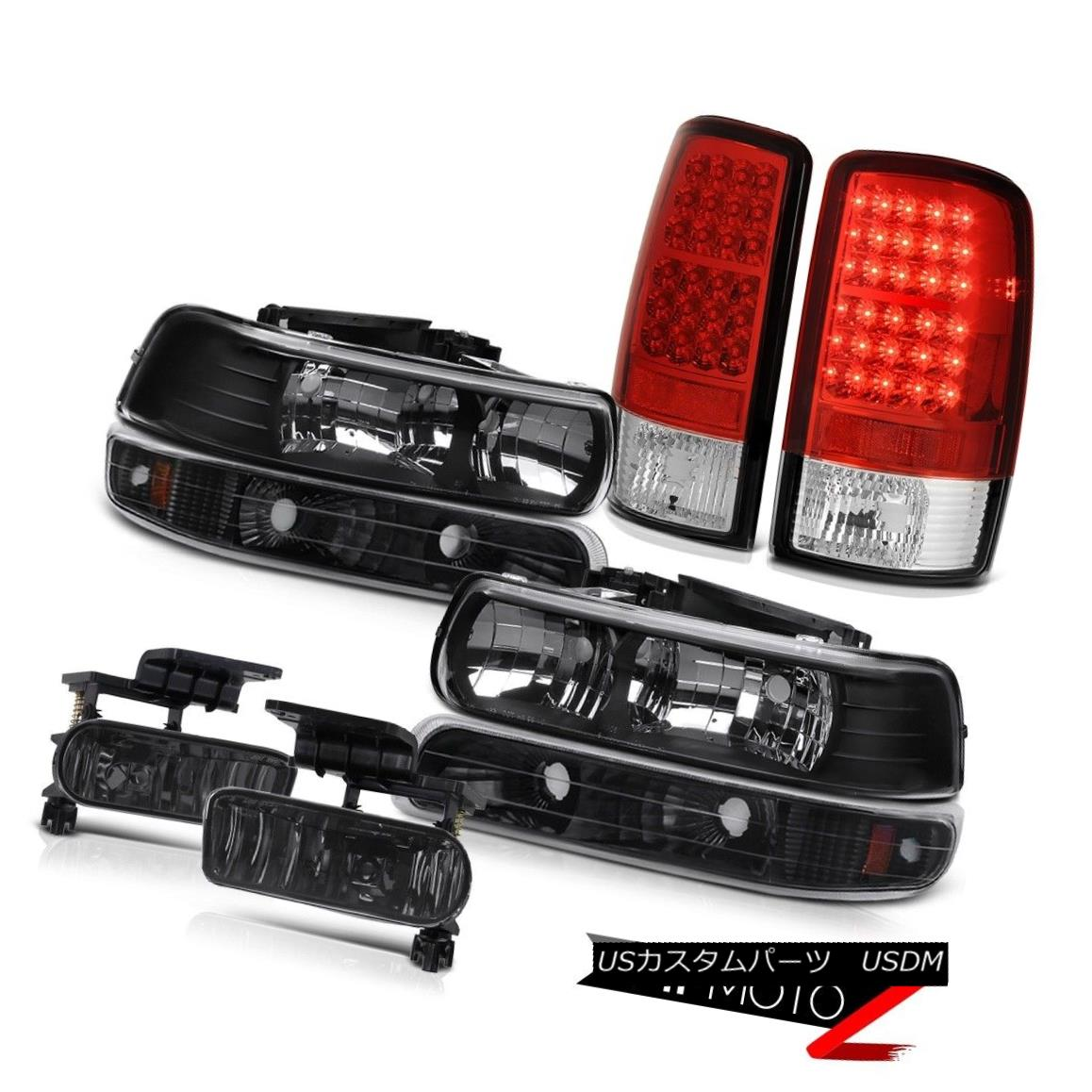 ヘッドライト Black Headlight Bright L.E.D Taillamps Dark Smoke Fog 2000-2006 Suburban 1500 黒いヘッドライト明るいL.E.D Taillamps暗い煙霧2000-2006郊外1500