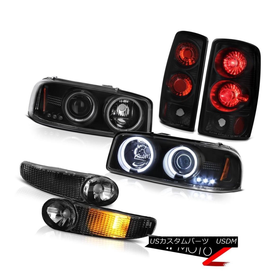 ヘッドライト Matte Signal Tail Light 00 01 02 03 04 05 06 Yukon Denali CCFL Halo Headlamp Set マットシグナルテールライト00 01 02 03 04 05 06ユーコンデナリCCFL Haloヘッドランプセット