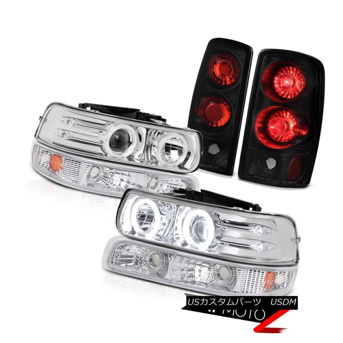 ヘッドライト CCFL Headlamps Euro Signal Black Tail Lights 00 01 02 03 04 05 06 Suburban 5.3L CCFLヘッドランプユーロ信号ブラックテールライト00 01 02 03 04 05 06郊外5.3L