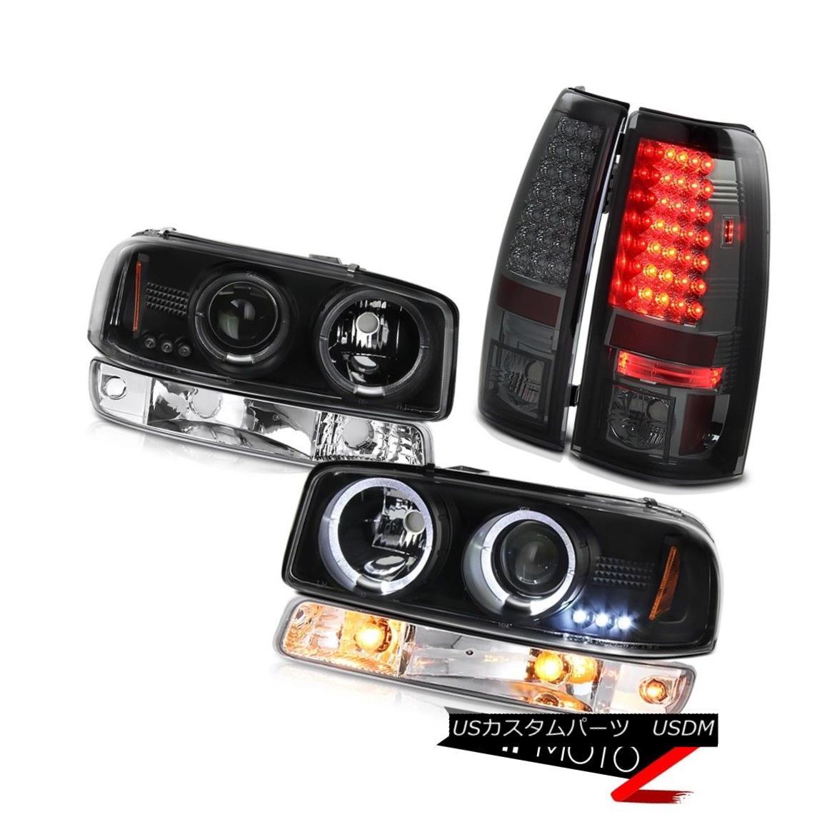 ヘッドライト 1999-2002 Sierra 1500 Smoked led tail lights euro chrome bumper lamp headlights 1999-2002 Sierra 1500 Smoke ledテールライトユーロクロムバンパーランプヘッドライト