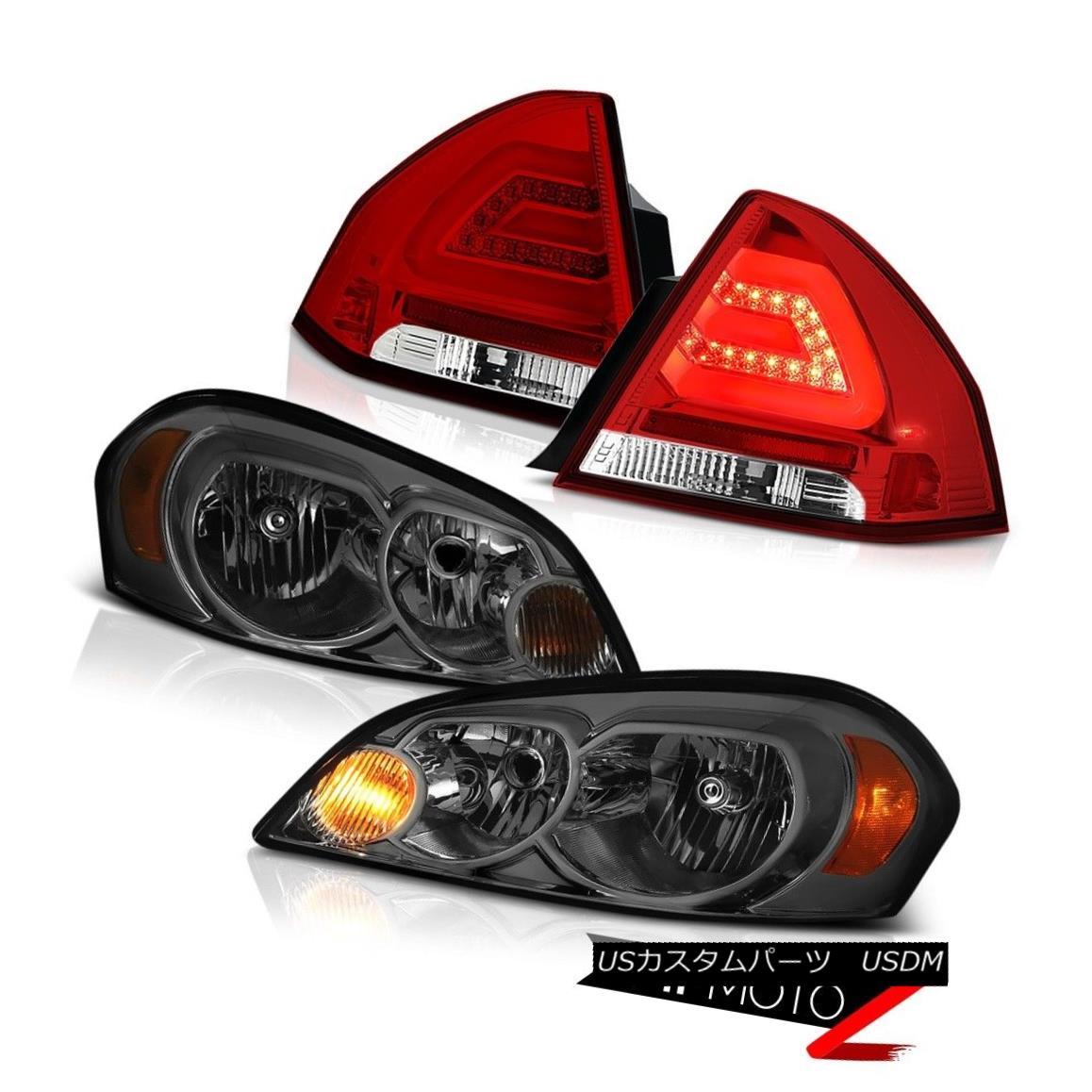 ヘッドライト 2006-2013 CHEVY IMPALA LS Tail lights smokey headlamps OE Style