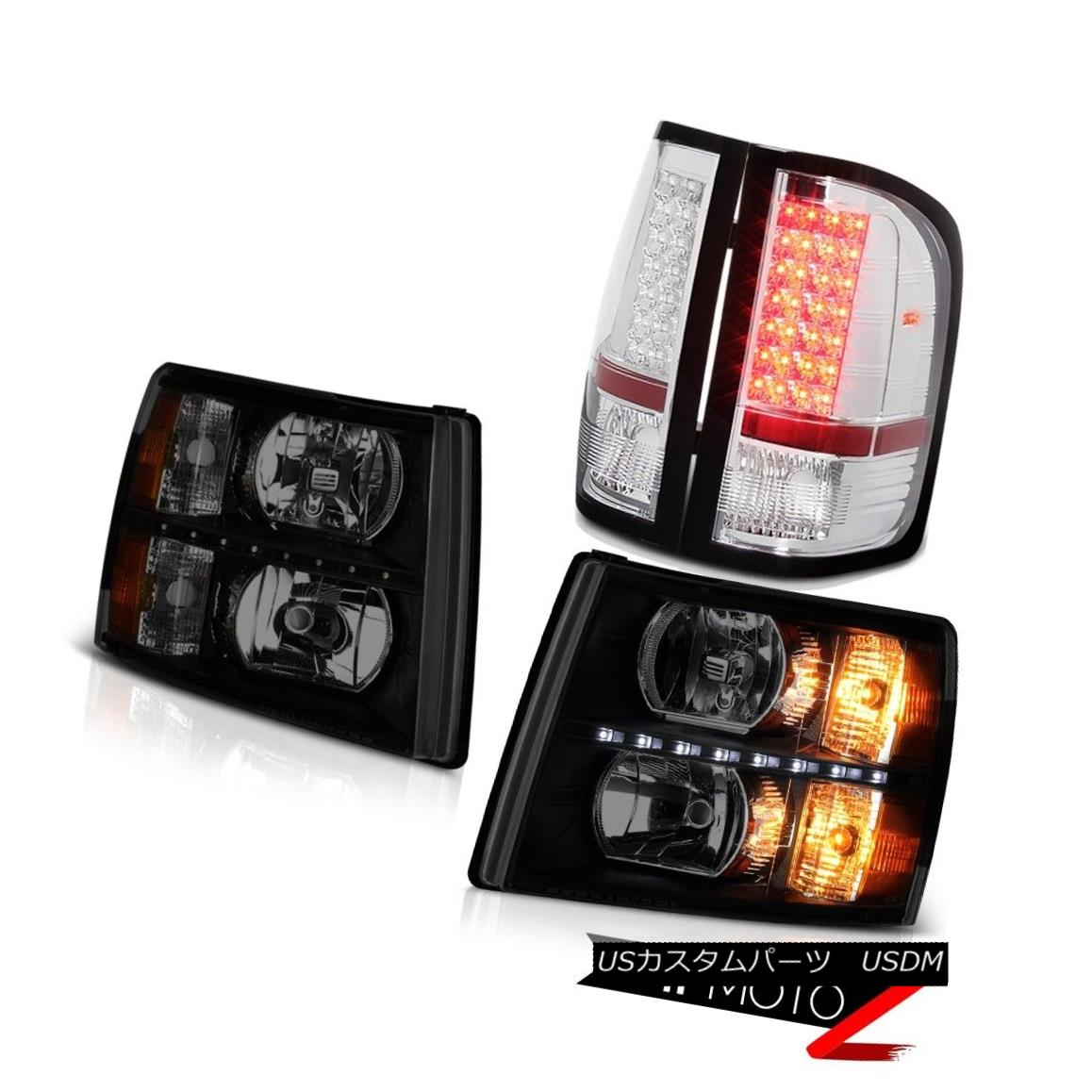 ヘッドライト 2007-2013 Silverado LS Headlamps led drl rear brake lamps OE Style