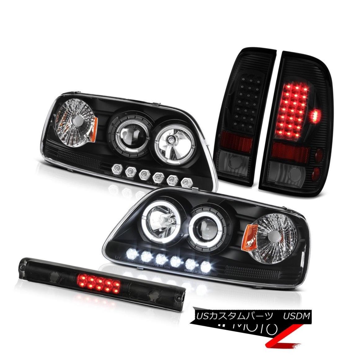 ヘッドライト 1997-2003 F150 Xl High Stop Light Taillamps Matte Black Projector Headlamps LED 1997-2003 F150 XlハイストップライトタイルランプマットブラックプロジェクターヘッドランプLED
