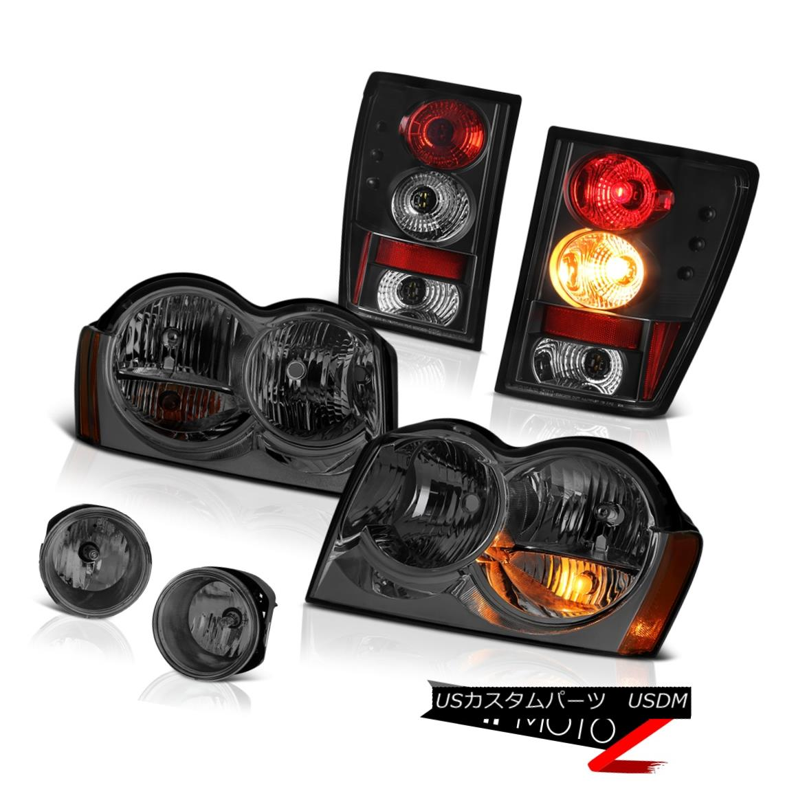 ヘッドライト 2005-2006 Jeep Grand Cherokee Limited Headlights Foglights Raven Black Taillamps 2005-2006 Jeep Grand Cherokee LimitedヘッドライトFoglights Raven Black Taillamps