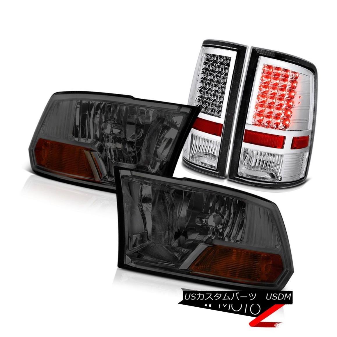 ヘッドライト Smoke Front Headlight LEFT RIGHT LED Chrome Taillamp 09-10-11-12-13-18 Dodge Ram 煙フロントヘッドライトLEFT RIGHT LED Chrome Taillamp 09-10-11-12-13  -18 Dodge Ram