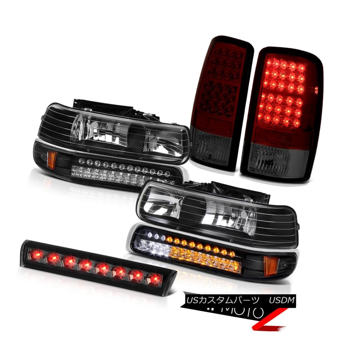 ヘッドライト 00-06 Tahoe 4.8L LED Crystal Bumper Headlights Burgundy Taillights Brake Cargo 00-06タホ4.8L LEDクリスタルバンパーヘッドライトバーガンディーティアライトブレーキカーゴ
