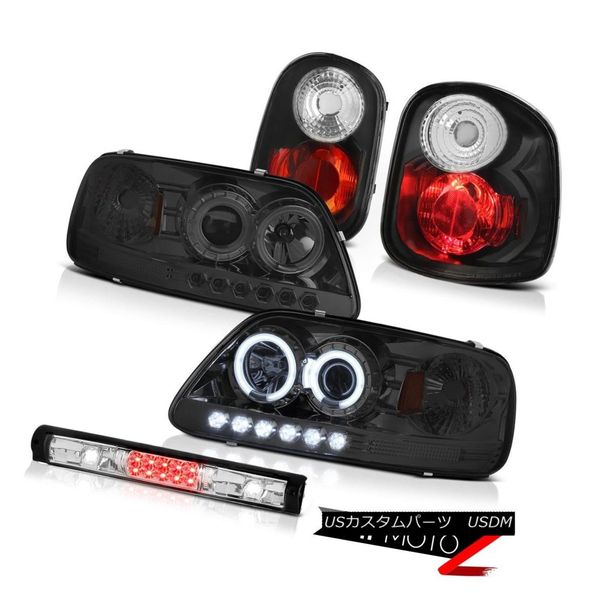 ヘッドライト BRIGHT CCFL Halo Headlamp Signal Brake Roof Stop LED 97-00 F150 Flareside Lariat BRIGHT CCFLハローヘッドランプ信号ブレーキルーフストップLED 97-00 F150 Flareside Lariat