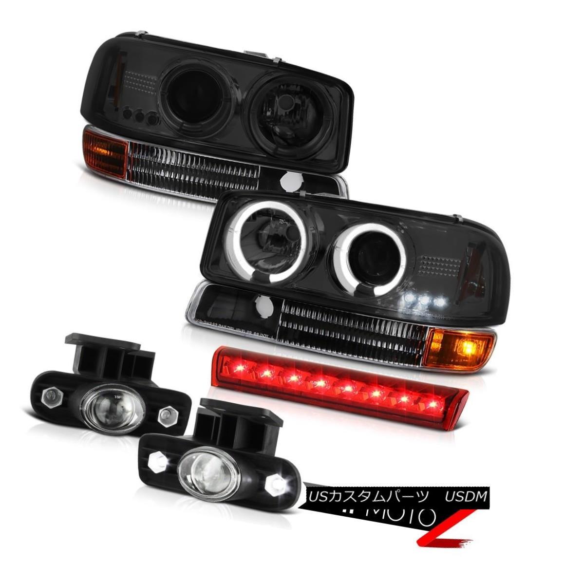 ヘッドライト Bumper Signal FogLamp Red LED Cargo Brake 00 01 02 03 04 05 Yukon Halo Headlight バンパー信号フォグランプレッドLEDカーゴブレーキ00 01 02 03 04 05ユーコンヘイローヘッドライト