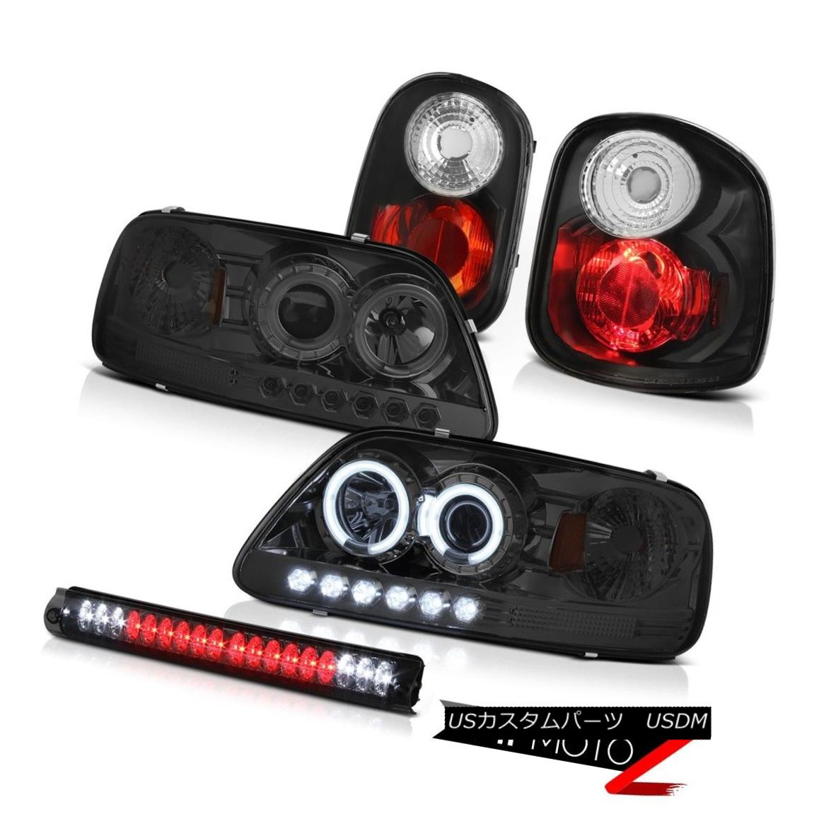 ヘッドライト Brightest Halo Ring Headlights Black Taillamps LED 3rd 97-00 F150 Flareside 4.6L 最も明るいHaloリングヘッドライトブラックTaillamps LED 3rd 97-00 F150 Flareside 4.6L